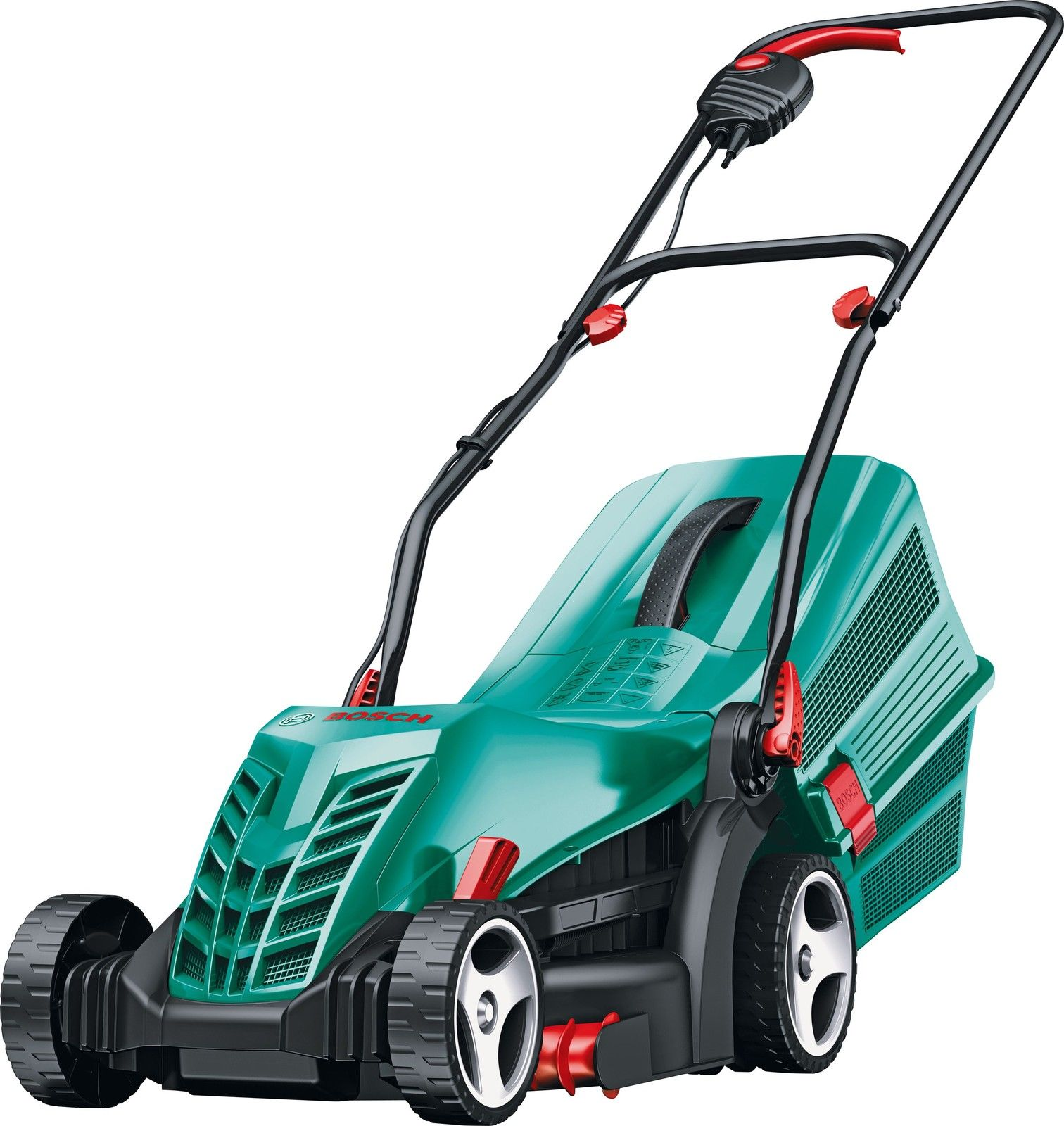 Bosch Rotak 34R Electric Rotary Lawnmower with Rear Roller